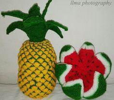 (Crochet) Amigurumi pine apple, watermelone