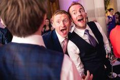 Wedding guests singing
