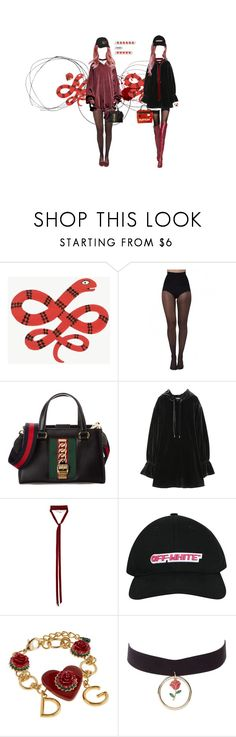 """""""trust issues"""" by katjq ❤ liked on Polyvore featuring Pretty Polly, Gucci, Alexander Wang, Ann Demeulemeester, Off-White, Dolce&Gabbana, Charlotte Russe, Vans and Hoodies"""