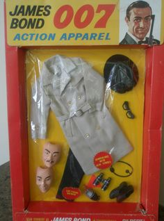 I did not know this existed - I was three.  But I would have WANTED it!!GILBERT: 1965 James Bond 007 Action Apparel featuring Sean Connery on the box art