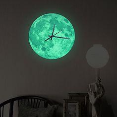 Horloge+murale+-+Rond+-+Moderne/Contemporain/Traditionnel/Rustique/Antique/Casual/Rétro/Office/Business+-+en+Plastique/Autres+–+EUR+€+22.53