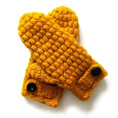 Puff Mittens Crochet Pattern by CrocheTrend on Etsy