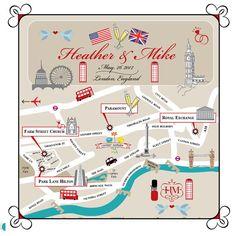 London wedding map