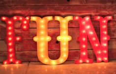 Project Nursery - Circus Theme Illuminated Letters