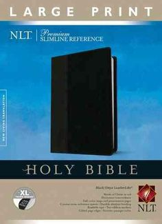 Holy Bible: New Living Translation, Onyx, LeatherLike, Premium Slimline Reference (Paperback)