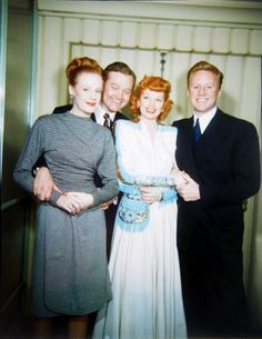 Lucille Ball - 1946 With Red Skelton and Van Johnson    April via Willie Lamb onto Photos of Movie Stars and Singers I Luff