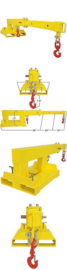 heavy equipment: Forklift Mobile Crane Lifting Hoist Truss Jib Boom 2 Hooks 5500 Lb Capacity -> BUY IT NOW ONLY: $495 on eBay!