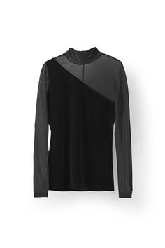 Campbell Velour Rollneck, Black
