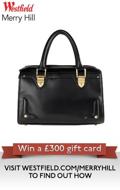 Black bag by Accessorize. Part of our Autumn Fashion Pin It To Win It Competition - visit http://uk.westfield.com/merryhill/news-and-events/pin-it-to-win-it to find out more.