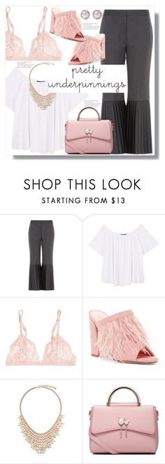 """The Prettiest Underpinnings"" by queenvirgo ❤ liked on Polyvore featuring STELLA McCARTNEY, MANGO, La Perla, Liliana, BERRICLE, WithChic and Miu Miu"