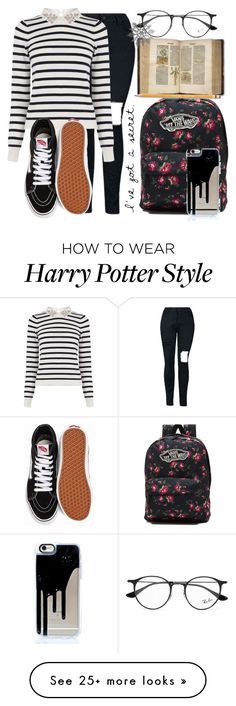 """""""Intro- Brianna Long {RTD}"""" by tell-me-pretty-lies on Polyvore featuring Oasis, Vans, Paper Mate, Ray-Ban and prettyliesrp"""