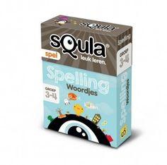 Squla - Spelling woordjes. Kaartspel (groep 3-4)