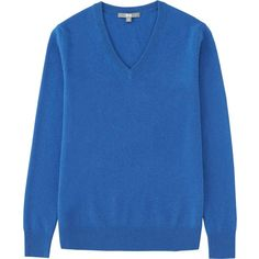 UNIQLO Women Cashmere V-Neck Sweater ($80) ❤ liked on Polyvore featuring tops, sweaters, low tops, cashmere vneck sweater, cashmere tops, vneck tops and low v neck tops