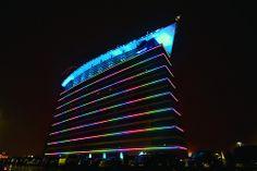 Arnaldo's Banquet Center in Riverview, MI uses the same lighting as Motor City Casino in Detroit