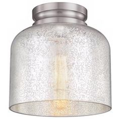 "Feiss Hounslow 9"" High Steel and Glass Ceiling Light - #5P234 | LampsPlus.com"