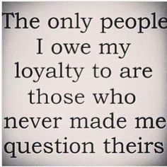 The only people.....