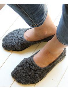 """Cute and comfy to wear - quick and seamless to knit! Whip up a pair for you and a friend and get walking on the cloud nine sole! Knit with worsted-weight yarn at a gauge of 20 sts and 24 rows per 4"""" using U.S. size 7/4.5mm straight, double point..."""