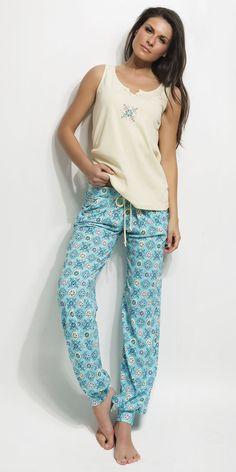 Ladies Pyjama 100% Cotton | Homewear| Vamp! Ladies Pyjama 100% Cotton 4481-85 Pajamas Women, Ss 15, Harem Pants, Lady, Cotton, How To Wear, Collection, Natural, Fashion