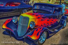 "Colorful hotrod at the ""Good Guys"" Car Show. by esaksenhaus"