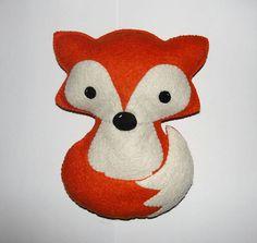 Wool Felt Fox Orange Fox Stuffed Animal Forest Animal
