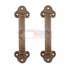 """Set//2 8 1//2/"""" Rustic Fancy Cast Iron Cabinet Gate Door Handle Pulls"""