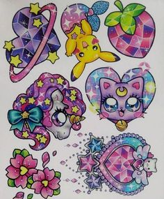 Ideas Drawing Kawaii Tattoos For 2020 Dream Tattoos, Girly Tattoos, Future Tattoos, Body Art Tattoos, Small Tattoos, Cool Tattoos, Kawaii Tattoos, Et Tattoo, Tattoo Drawings