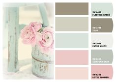 Perfect sw colors for Lydia's room or even the guest room