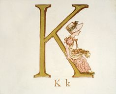 Lovely illustration of my initial by the delightful Victorian illustrator Kate Greenaway.