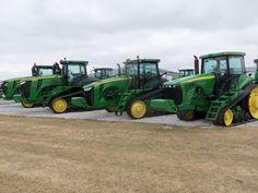 4 John Deere track tractors 235hp 8420T,273hp 8335T & 2 616 hp 9560RTs