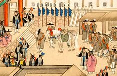 Korean Documentary Painting - Royal Procession to the City of Hwaseong | 100 Thimbles in a Box