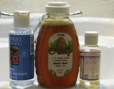 I must be Pinterest crazy: Homemade Honey Shampoo Recipe:  **** 1 cup liquid castile soap ****  1/4 cup honey (4 Tablespoons)****  1/8 cup olive oil (2 Tablespoons) ****  4 teaspoons glycerin ****  1/2 cup aloe vera extract ****  Mix together in an empty bottle and shake vigorously to blend.