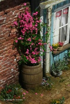 Springtime cottage (1/32 scale)