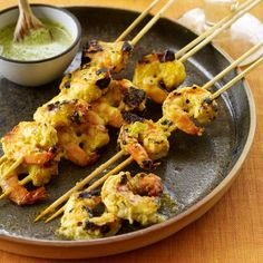 Mango Shrimp | Vikram Sunderam marinates the shrimp twice: first in garlic and ginger, then in a more complex marinade that includes yogurt, cashews, jalapeño and mango pulp. To streamline this process at home, combine the most important ingredients into one marinade and substitute store-bought mango nectar for the pulp.