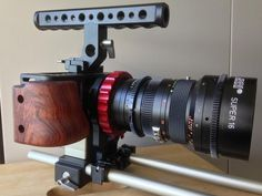 """"""" Have a sneak peak at the latest pre-prod Movcam BMPCC cage with new top handle and Vocas PL adapter"""" Cinema Camera, 35mm Camera, Camera Gear, Camera Reviews, Filmmaking, Cage, Gears, Lust, Cameras"""