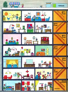 from 40 Jeux Pour Jouer a Plusieurs (c. written by Alain Gree and illustrated by Luis Camps and Gerard Gree (Alain's brother) Teaching French, Teaching Spanish, Teaching Resources, French Classroom, Spanish Classroom, French Resources, South Of France, Learn French, Speech Therapy