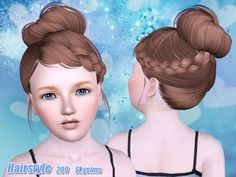 Female hairstyle for children. Found in TSR Category 'Female Sims 3 Hairstyles'