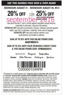 Free Printable Coupons: Carson Pirie Scott Coupons