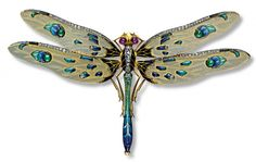 louis aucoc dragonfly brooch