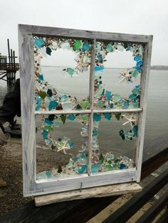20 Cheap Coastal Decor Trending This Summer - Interior Design - The Effective Pictures We Offer You About gothic decor A quality picture can tell you many things. Sea Glass Crafts, Sea Glass Art, Stained Glass Art, Sea Glass Decor, Sea Glass Beach, Mosaic Art, Mosaic Glass, Seashell Art, Beach Crafts