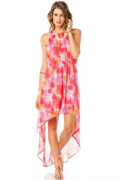 So fun and colorful! LOVE pink and orange <3 fashion, shopsosi style, orang, lo dress, dresses, color crush, bright colors