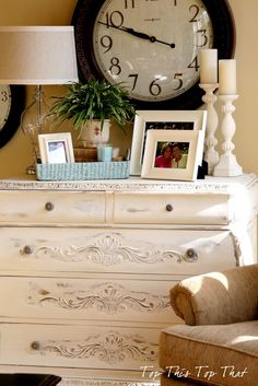 painted chest in old white from top this top that