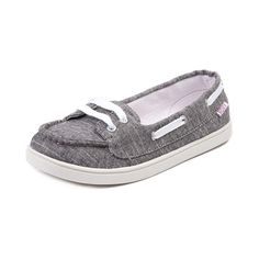 Shop for Womens Roxy Skooner Casual Shoe in Black at Journeys Shoes. Shop today for the hottest brands in mens shoes and womens shoes at Journeys.com.Slip-on skimmer boat shoe from Roxy sporting a fun surfer girl silhouette. the Skooner features a soft textile upper, moc toe stitch, 360 degree nautical lace closure, and durable rubber sole. This exclusive black chambray colorway can only be found at Journeys and SHI! Available exclusively at Journeys and SHI! Available for shipment in March…