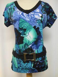 t658- Pretty Woman Multi-Coloured Top – Silhouette Fashion Boutique Woman  Silhouette 4e9c11c19