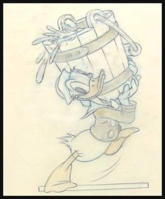 Donald Duck ...USS YO-175 Comic Art