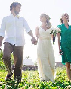 Organic Wedding Dress  Full Length   Eco Friendly Wedding  by SoulRole | Etsy