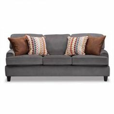 AFW $600 Loose the pillows  Campbell Pewter Sofa