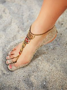 Free People Bonfire Beaded Anklet at Free People Clothing Boutique