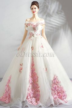 In Stock:Ship in 48 Hours Ligth Champagne Appliques Wedding Dress Formal Dresses For Weddings, Sexy Wedding Dresses, Princess Wedding Dresses, Elegant Dresses, Pretty Dresses, Formal Wedding, Evening Party Gowns, Evening Dresses, Ball Dresses
