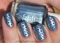Polish Art Addiction: Sinful Colors Rain Storm & Essie Blue Rhapsody