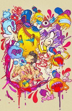 POP 1989 | illustration by Raul Urias, via Behance